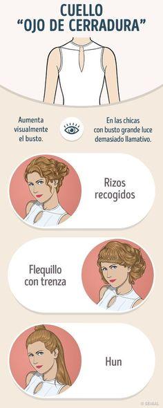 Cómo combinar correctamente el peinado con el escote del vestido