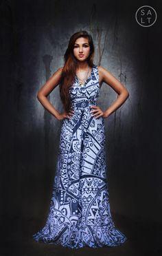 893c75e390 Handmade Batik Sleeveless Dress with sash. Comfortable and casual, yet  stylish. Summer Editorial
