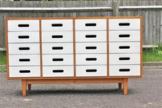 Image of Vintage Esavian cabinet/sideboard by James Leonard (GB) for ESA circa 1950s