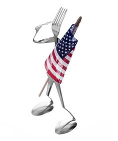 Fork Patriot Sculpture - Made in the USA by Forked Up Art Stainless Steel Utensils, Brushed Stainless Steel, Fork Art, Forks And Spoons, Star Spangled, Recycled Art, Whimsical Art, Sculpture, Crafty