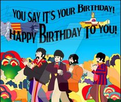 Happy Birthday Hippie, Happy Birthday Beatles, Happy Birthday Male Friend, Happy Birthday Vintage, Funny Happy Birthday Wishes, Friend Birthday Quotes, Happy Birthday Images, Happy Birthday Greetings, Birthday Memes