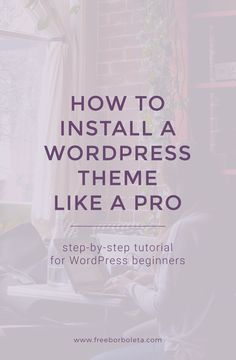 Learn how to install or upload a WordPress theme with this step by step tutorial created specially for WordPress beginners. Includes how to install a free theme and premium themes.