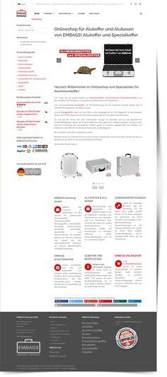 Erstellung des Onlineshop Aluminiumkoffer.de