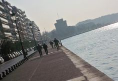 . Thessaloniki, Sidewalk, Beach, Water, Outdoor, Image, Water Water, Outdoors, Seaside