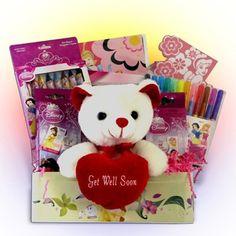 Disney Princess Get Well Gift Basket Idea for Girls
