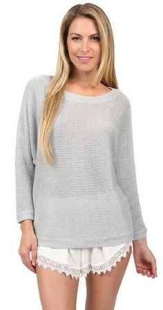 Joie Emilie Sweater in Silver Fox at www.shopblueeyedgirl.com