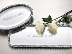 $29 and up Mariposa Statement Trays and serveware!  A bride favorite!   If you would like to purchase this for the happy couple, contact bedfellows at 850-893-1713 or visit us at 1495 Market Street, Tallahassee