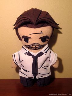 Plush Bigby Wolf inspired by the Telltale game The Wolf Among Us. Via:superpunch2