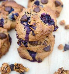 blueberry chocolate chip breakfast cookie