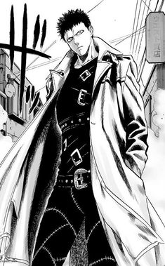 Zombieman from One Punch Man anime series Opm Manga, Manga Anime, Manga Art, Anime Guys, One Punch Man Anime, Punch Manga, Saitama, Caped Baldy, Zombie Man
