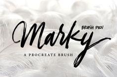Marky Brush Pen Procreate Brush - Brushes
