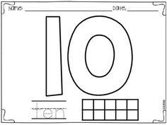 Numbers 1-10 FREEBIE {English and Spanish}