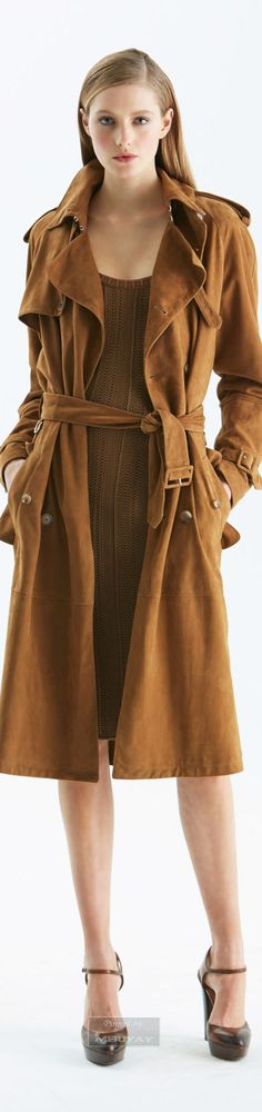 Ralph Lauren ~ Pre-Fall Fashion, Trench Coat, 2015.