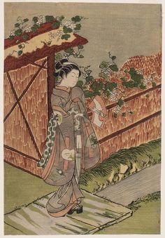 Parody of the Yûgao Chapter of the Tale of Genji  見立夕顔 Japanese Edo period about 1766 (Meiwa 3) Artist Suzuki Harunobu (Japanese, 1725–1770)