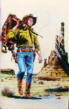 As cores originais da capa de Tex collezione storica a colori nº 188