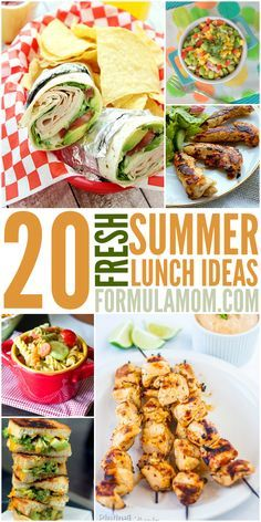 Check out these 20 fresh Summer Lunch Ideas and make lunch easy and delicious!