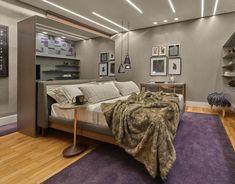 Sancas retas para quarto com visual moderno