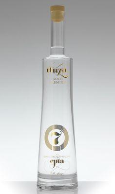 Ouzo epta 7 Designed by: Stelios Pseftogas of noon design, Greece. Alcohol Bottles, Vodka Bottle, Liquor Bar, Label Design, Package Design, Graphic Design, Cocktail Drinks, Cocktails, Wine And Spirits