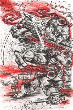 Teenage Mutant Ninja Turtle art by Rob Duenas