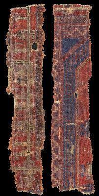 Historical Seljuk / Seljuq rugs and carpets: Ilkhanid period rug fragments, second half 13th Century, Tabriz, Azerbaijan