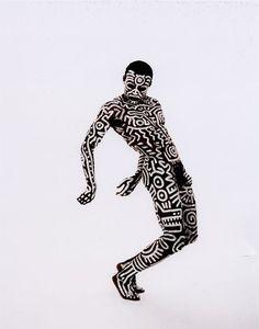 'Tribal' (1983) - Keith Haring - Choreographer, Bill T. Jones - Photo by Tseng Kwong Chi