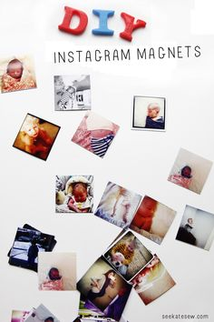 DIY instagram magnets for less than 15 cents each!