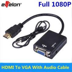 convertisseur HDMI mâle vers VGA femelle adaptateur vidéo avec sortie audio pour PC DVD HDTV PS3 HD 1080P