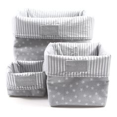 eva and oli storage box Baby Boy Rooms, Baby Room, Diy Bebe, Baby Zimmer, Fabric Boxes, Baby Couture, Kids Prints, Silver Stars, Baby Sewing