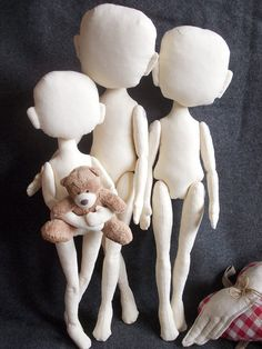 Blank Doll FAMILY for crafting handmade doll by MadeByMiculinko