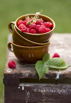 https://flic.kr/p/9TQq82 | Freshly picked raspberries | from the garden of course... :)