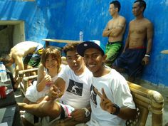 After surfing keep smile and energic. ..