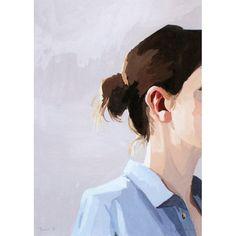5x7 hair art Bun 6 giclee print by ElizabethMayville on Etsy