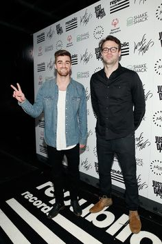 Alex Pall Photos Photos - Andrew Taggart and Alex Pall from the Chainsmokers, attend 2014 Republic Holiday Party on December 2014 in New York City. Chainsmokers, Andrew Taggart, The Vamps, Edm, Good Music, Hot Guys, Bands, Hollywood, December 11