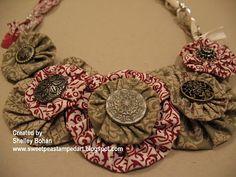 .: Yoyo Fabric Necklace