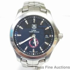 Scarce Tiger Woods Ltd Ed WJ2110 Tag Heuer Link Diver Automatic Watch #TAGHeuer…