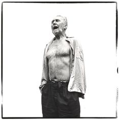 Richard Avedon, Ezra Pound, poet, at the home of William Carlos Williams, Rutherford, New Jersey, June 30, 1958