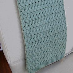 Sanford Design Cotton Basketweave Throw in Aqua - B105AQ