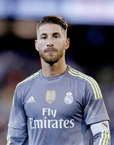 Sergio Ramos away gray shirt - Real Madrid captain