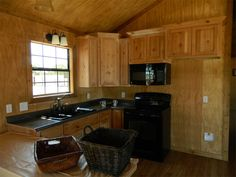 Wildcat Barns sells and offers RENT TO OWN high quality Amish log cabins, with or without finished interior Two Bedroom Tiny House, Tiny House Cabin, Tiny Houses, Lofted Barn Cabin, Cabin Loft, Shed House Plans, House Floor Plans, Shed Homes, Kit Homes