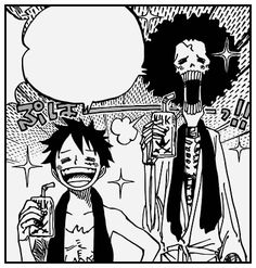 AFTER 14 LONG CHAPTERS, LUFFY'S (and Brook's) MISSING TOOTH HAS FINALLY GROWN BACK!!!!!  and i can't believe that this whole time… all it took was a sip of milk for his tooth to grow back…