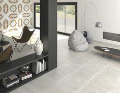 Carrelage TEMPO, aspect pierre beige, dim 60 x 60 cm Tile Suppliers, Encaustic Tile, Flat Ideas, Moroccan Design, Porcelain Tile, Decoration, Wall Tiles, Flooring, Interior Design