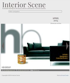 new beem corner group & tweed table in interior scene mag