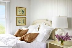 Fall bedroom inspiration starting from your bedroom hardwood floors and moving into this serene bedroom or guest room in organic modern inspired fabrics and chic neutrals.