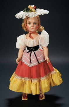 American Composition Doll by Arranbee in Custom Costume for Shirley Temple $200+ Auctions Online | Proxibid