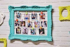 """Como fazer um painel com fotos """"polaroid"""""""