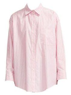Maje Cherry Stripe Oversize Cotton Button-up Shirt In Pink Cut Shirts, Button Up Shirts, Maje Clothing, Pink Photo, World Of Fashion, Personal Style, Cherry, Style Inspiration, Cotton