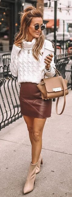 56086fd57 40 Best brown leather skirt images in 2018 | Suede skirt, Fashion ...