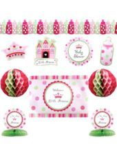 Take a look at this and tell me what you think of this too...Little Princess Baby Shower Decorating Kit - Party City