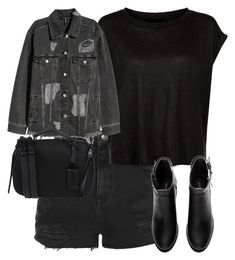 """Untitled #826"" by strangebirdd ❤ liked on Polyvore featuring Topshop, H&M and Steve Madden"