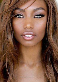 Beautiful face, beautiful eyes-she reminds me of Adriana Lima! My Black Is Beautiful, Beautiful Eyes, Beautiful Women, Beautiful Person, Beautiful People, Beauty Makeup, Hair Beauty, Lip Makeup, Makeup Contouring